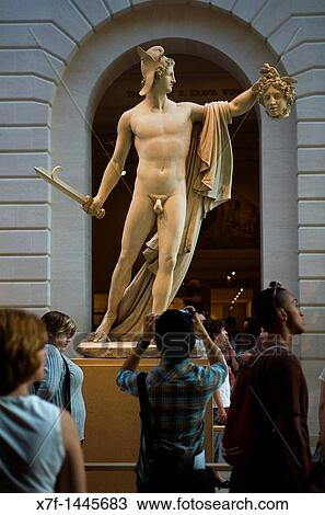 The Met Metropolitan Museum Of Art Perseus Whith The Head Of Medusa By Antonio Canova 1804 New York City Usa Stock Image