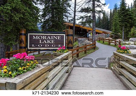 The Moraine Lake Lodge Sign In Banff National Park Alberta