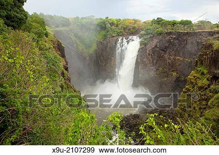 Victoria Falls Zimbabwe Africa Stock Photo X9u 2107299