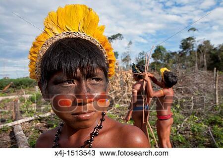 Xingu dance Brazil South America Stock Photo: 10052971 - Alamy