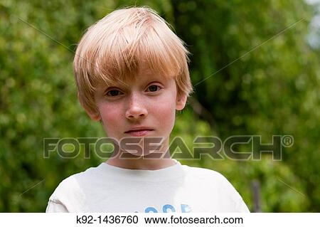 Stock Photography Of Young Boy With Blonde Hair K92 1436760