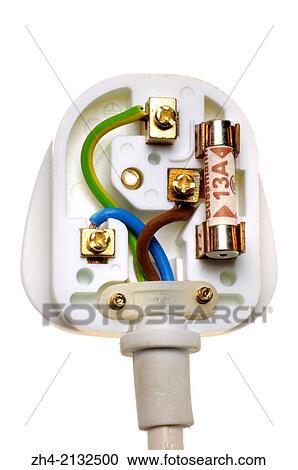UK electric plug showing correct wiring. Stock Image on uk plug voltage, uk plug sockets, uk motor wiring, uk outlet wiring, power over ethernet wiring, headset wiring,