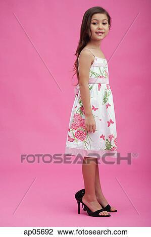 Young girl in heels pics