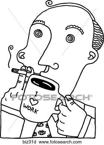 Clipart Of Mr Stress 4