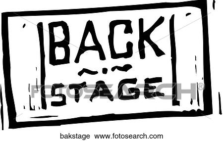 Clipart Of Back Stage Pass Bakstage