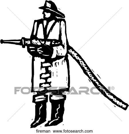 Clipart Feuerwehrmann Fireman Suche Clip Art Illustration