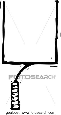 clip art of goal post goalpost search clipart illustration rh fotosearch com goal post clipart black and white field goal post clipart