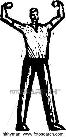 Clipart Of Healthy Man Hlthyman Search Clip Art Illustration