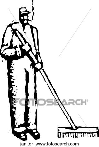 Janitor Clipart Janitor Fotosearch