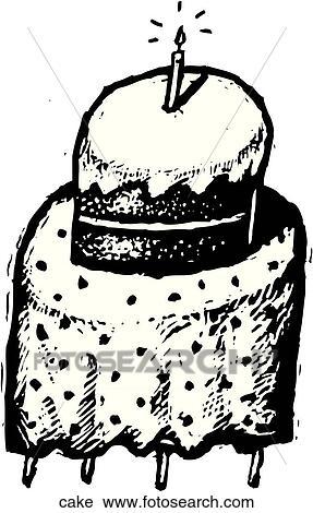 Clipart Kuchen Cake Suche Clip Art Illustration Wandbilder