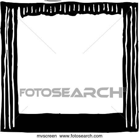 clipart of movie screen mvscreen search clip art illustration rh fotosearch com