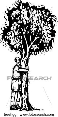 Tree Hugger Clipart Treehggr Fotosearch