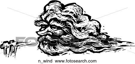 北風 クリップアート切り張りイラスト絵画集 Nwind Fotosearch
