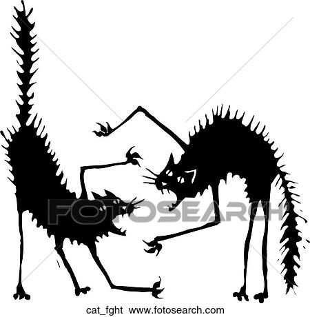 Free Cat Fight Silhouette - Cat Fight Clipart - Free Transparent PNG Clipart  Images Download