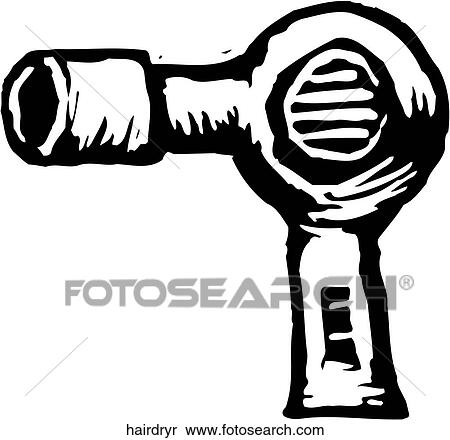 Clipart of Hair Dryer hairdryr - Search Clip Art, Illustration ...