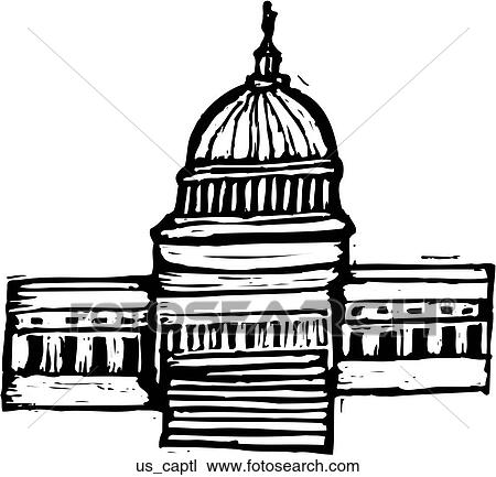 US Capitol Clipart | us_captl | Fotosearch