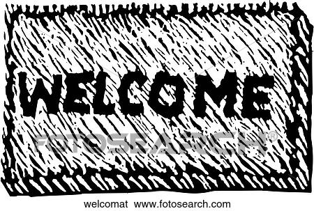 Clip Art Welcome Mat Fotosearch Search Clipart Ilration Posters Drawings