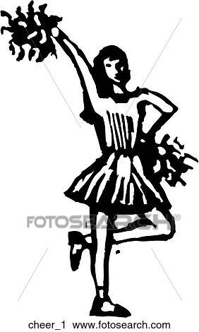 Cheerleader 1 Clipart