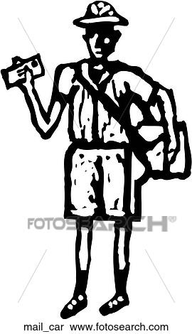 Mail Carrier Clipart | mail_car | Fotosearch