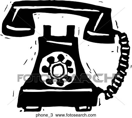 Telephone 3 Clipart Phone 3 Fotosearch