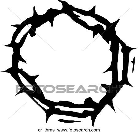 clip art of crown of thorns cr thrns search clipart illustration rh fotosearch com crown of thorns clip art religion free