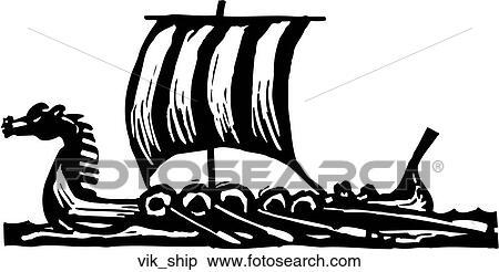 Viking Ship Clipart | vik_ship | Fotosearch