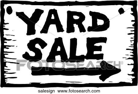 Yard Sale Sign Clipart Salesign Fotosearch