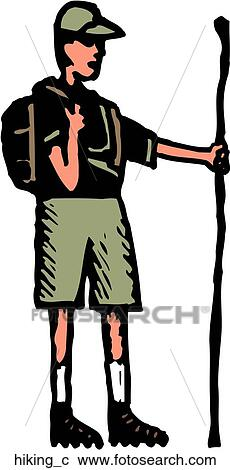 clipart of hiking hiking c search clip art illustration murals rh fotosearch com hiking clip art images hiking clipart images