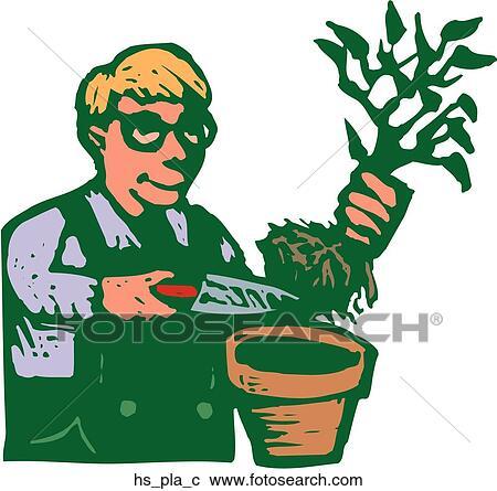clipart of house plants hs pla c search clip art illustration