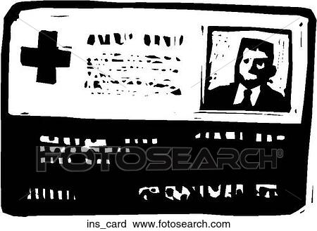 clipart insurance card fotosearch search clip art illustration murals drawings and