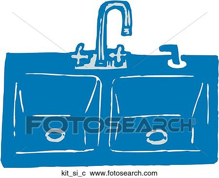 Clipart of Kitchen Sink kit_si_c - Search Clip Art, Illustration ...