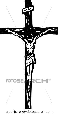 clip art of crucifix crucifix search clipart illustration posters rh fotosearch com crucifix png clipart crucifixion clipart free