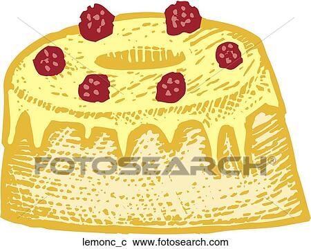 Clipart Of Lemon Cake Lemonc C Search Clip Art Illustration