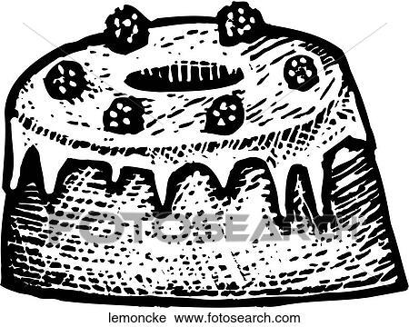 Clipart Of Lemon Cake Lemoncke Search Clip Art Illustration