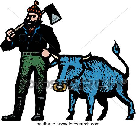 clipart of paul bunyan paulba c search clip art illustration rh fotosearch com paul bunyan clipart paul bunyan clipart