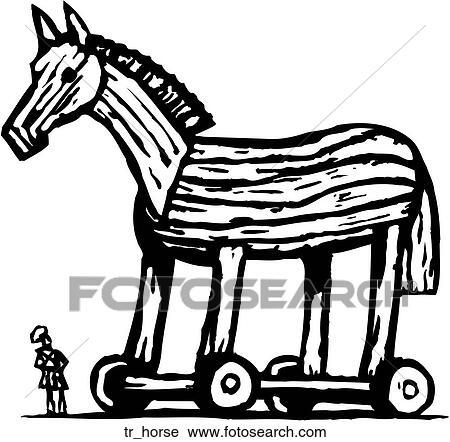 clipart of trojan horse tr horse search clip art illustration rh fotosearch com trojan clip art mascots trojan clip art mascots