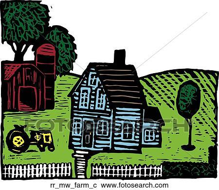 Clipart Bauernhof Rr Mw Farm C Suche Clip Art Illustration