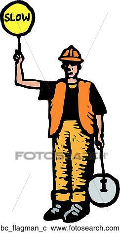 Clipart of Flagman bc_flagman_...