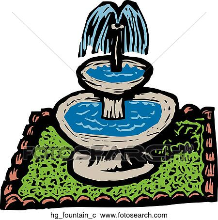 clipart of fountain hg fountain c search clip art illustration rh fotosearch com fountain clip art black and white fountain clipart