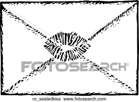 Sealed with a Kiss Clip Art | ro_sealedkiss | Fotosearch