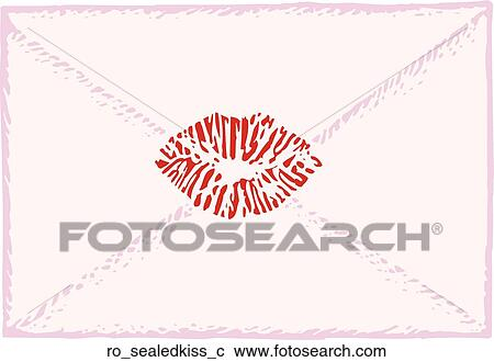 Clipart of Sealed with a Kiss ro_sealedkiss_c - Search ...