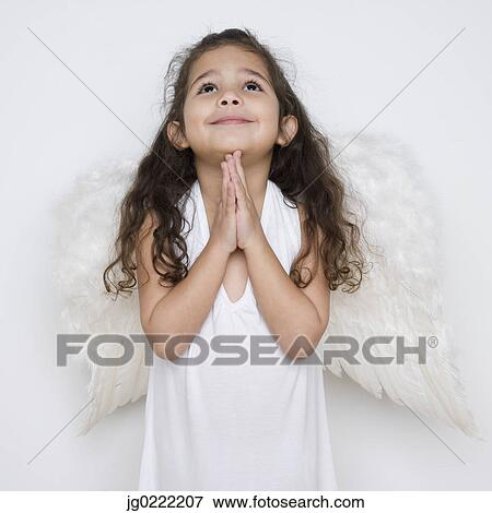 Picture Of Angel Girl Praying Jg0222207 Search Stock Photography
