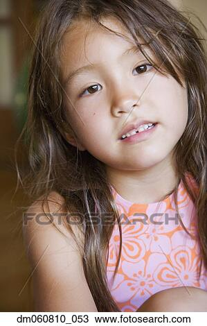 Asian girl with really large teeth