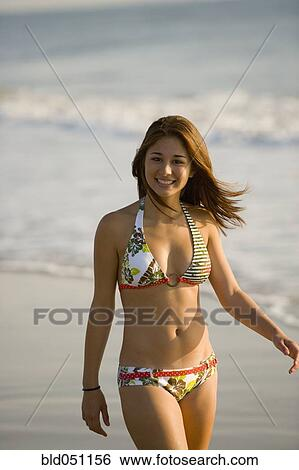 Asian girl beach