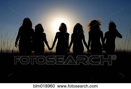 Stock photography silhouettes — 1