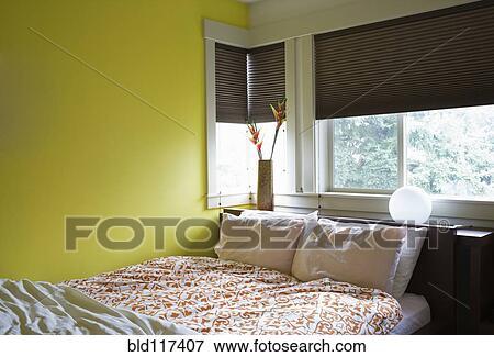 Beeld - lege, slaapkamer, met, natuurlijk licht bld117407 - Zoek ...