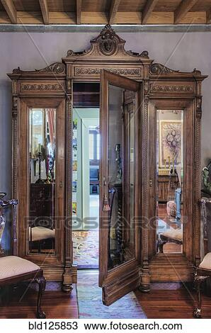 Stock Photo Of Ornate Wardrobe With Secret Door Bld125853 Search