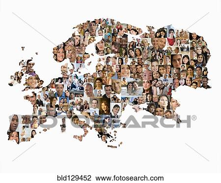 Stock photo of collage of business people in shape of world map collage of business people in shape of world map gumiabroncs