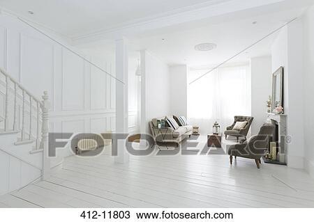 Stock Foto - meubel, in, witte, woonkamer 412-11803 - Zoek ...