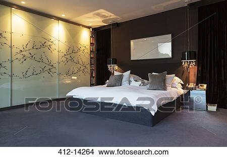 muur kunst in hippe slaapkamer